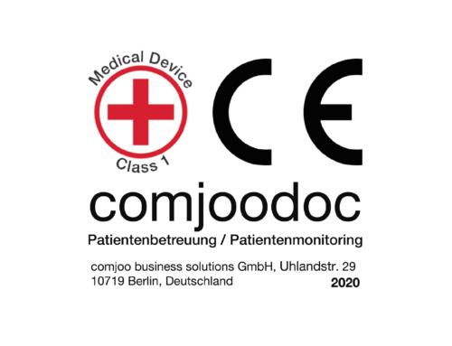 comjoodocs Patientenbetreuung erhält das CE-Zertifikat als Medizinische Software